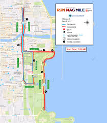 Blue Line Chicago Map by Course Run Mag Mile