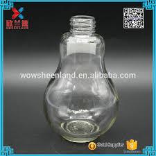 light bulb shaped l 200ml light bulb glass juice bottles with cap and straw 200ml light