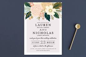 wedding invitations floral classic floral wedding invitations by alethea and ruth minted