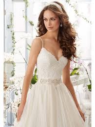 Mori Lee Wedding Dresses Mori Lee 5416 Lace Bodice Dress With Ivory