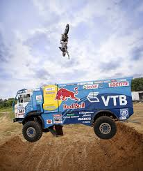 red bull motocross race red bull flip over kamaz truck crazy stunts motorsports wings