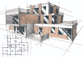 building design set of layout of the building design vector 06 vector