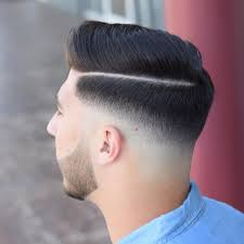 haircut with the line men top 28 futuristic crispy hard part hairstyle for men