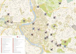 touristic map of rome printable tourist map sygic travel