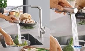 aubade cuisine robinet évier de cuisine essence grohe espace aubade
