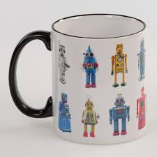 toy vintage robots ceramic coffee mug sci fi mugs retroplanet com