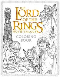 lord rings movie trilogy coloring book warner brothers