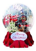 pop up snow globe greetings 3d christmas cards
