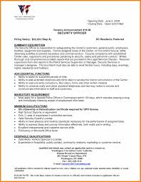Best Resume Format 1 Year Experience by A Good Resume For Security Job Virtren Com