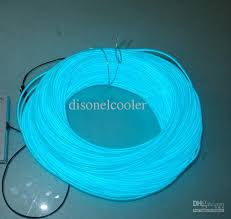 cheap 100m of 5mm neon el flashing wire lights for holidays
