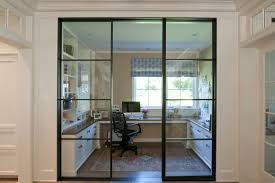 home office doors with glass home office glass sliding door to cut out all family noise but keep