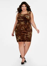 velvet dress plus size leopard print ruched velvet sheath dress