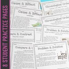 nonfiction text structures no prep bundle by one stop teacher shop