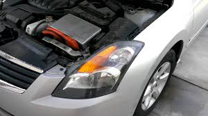 nissan maxima hybrid 2007 nissan altima hybrid headlight replacement part 1 youtube