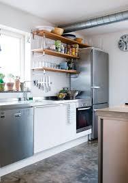 Stainless Steel Kitchen Shelves by Kitchen Open Shelving Captainwalt Com