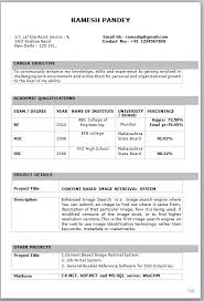 format of resume for fresher sample resume for freshers 28 resume