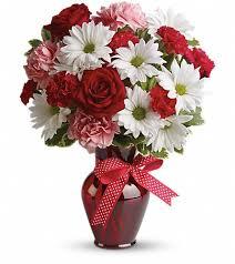 burlington florist hugs and kisses bouquet with roses philadelphia florists