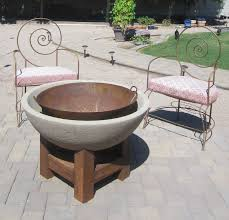 exterior square outdoor fire pit which furnished with slate base
