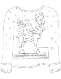 16 ugly christmas sweater colouring pages mum madhouse