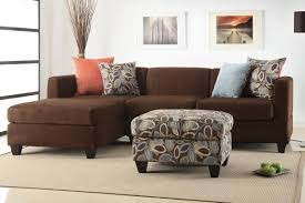 Large Brown Sectional Sofa Modern Living Room Decor With Large Sofa Pillows And Soft