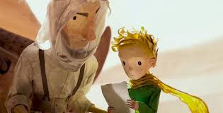 le petit prince au bureau frame from a stop motion sequence in the prince