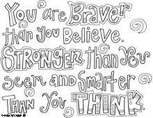 printable quote coloring pages funycoloring