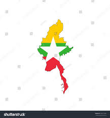 Flag Of Burma Map Flag Myanmar Stock Illustration 358311638 Shutterstock