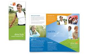 church youth ministry brochure template word u0026 publisher