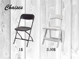 location de chaises chaises pliantes services dans québec petites annonces de kijiji