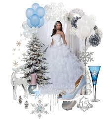 snow queen winter wonderland sweet fifteen theme quince candles