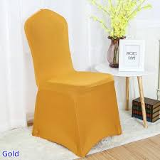 gold spandex chair covers spandex chair cover gold colour flat front lycra stretch banquet