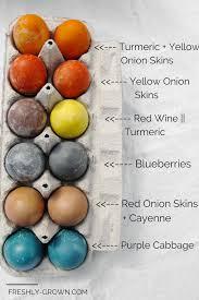 how to dye eggs using real food ingredients