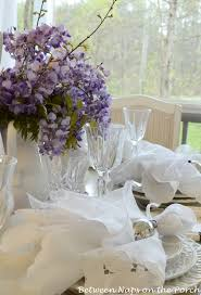 Spring Table Settings Easter Tablescapes Table Settings With Wisteria And Bunny