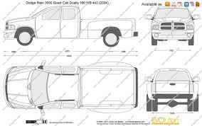 the blueprints com vector drawing dodge ram 3500 quad cab