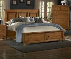 Pine Sleigh Bed Frame Vaughan Bassett Bed 540 Buy Reflections Pine Sleigh Storage Bed