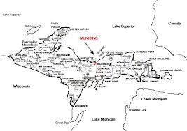up michigan map map showing location of munsing michigan in the peninsula