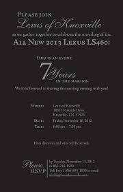 lexus in knoxville tn graphic design invitation samples