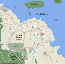 Dallas On Map by Bar Harbor Street Map Acadia Maine