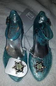 disney store frozen elsa light up shoes disney store frozen elsa light up costume dress shoes sz 2 3 sparkle