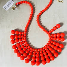 coral bead necklace images J crew jewelry j crew coral beaded necklace poshmark jpg