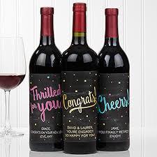 personalized wine bottle labels congratulations