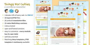 templates for newsletters things for cuties baby kids newsletter template by mouseonleaf