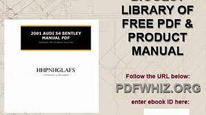 2001 audi s4 bentley manual pdf video dailymotion