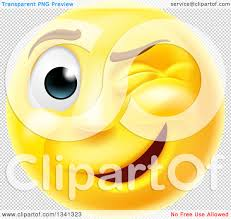 happy thanksgiving smiley face clipart of a 3d yellow smiley emoji emoticon face winking