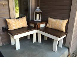 Build A End Table by Remodelaholic Build A Corner Bench With Built In Table
