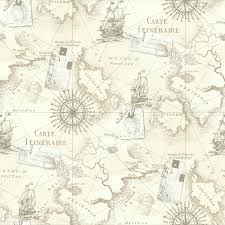 Old World Map Wallpaper by Nautical Map Wallpaper Old World Nautical Map Wall Border Home
