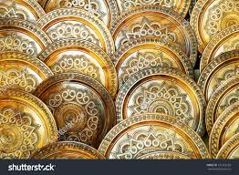 ornamental plates stock photo 131763758