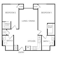 two bedroom floor plans floor plan 2 bedroom apartment b16 on modern small home decoration