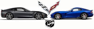 viper or corvette has corvette de fanged chrysler s srt viper vettetube
