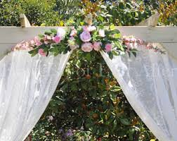 wedding arches decorated with flowers wedding arch flower etsy
